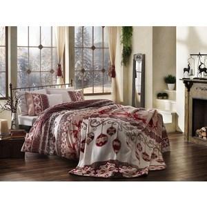 Комплект постельного белья TAC 1,5 сп, сатин Snowden, красный (3080-15474)