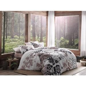Комплект постельного белья TAC 2-х сп, сатин Bertha, коричневый (3081-20806) комплект постельного белья ecotex 2 х сп сатин сюссан кгмсюссан
