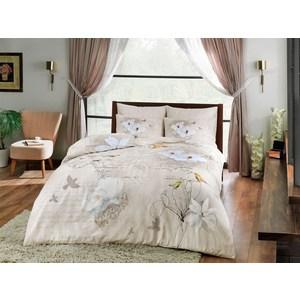 Комплект постельного белья TAC 2-х сп, сатин Brenna, бежевый (3081-20678) комплект постельного белья ecotex 2 х сп сатин сюссан кгмсюссан