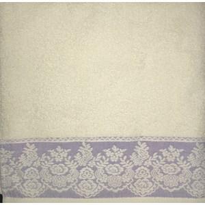 Полотенце Brielle Garden cream-purple 70x140 кремово-пурпурный (1204-85300)