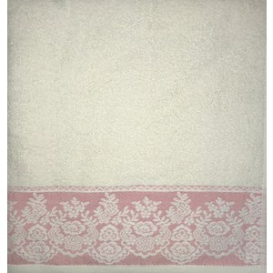 Полотенце Brielle Garden cream-fuchsia 70x140 кремово-фуксия (1204-85306)