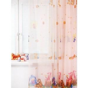 Тюль портьерная детская TAC Малыш Винни 300x265 персиковый (GS0025)