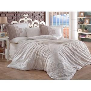 где купить Комплект постельного белья Hobby home collection Евро, поплин Irene бежевый по лучшей цене