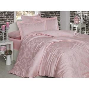 Комплект постельного белья Hobby home collection Евро, бамбук Diamond Flower нежно-розовое