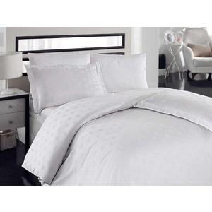 Комплект постельного белья Hobby home collection Евро, бамбук Diamond Spot белое