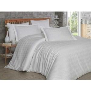 Комплект постельного белья Hobby home collection Евро, сатин Bulut, кремовое
