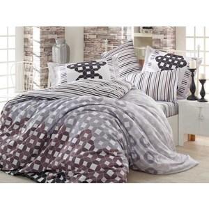 где купить Комплект постельного белья Hobby home collection Семейный, сатин Marsella черное по лучшей цене