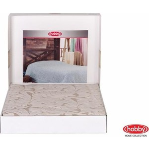 Покрывало Hobby home collection 1,5 сп, махровое, Sultan Кремовый