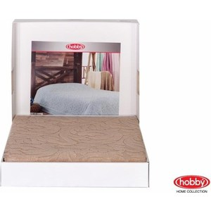 Покрывало Hobby home collection 1,5 сп, махровое, Sultan Бежевый