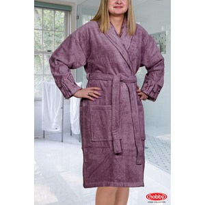 Халат женский Hobby home collection Eliza M Темно-фиолетовый цены