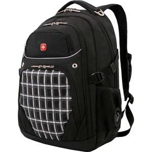 Рюкзак Wenger черный/клетка (3107204408) рюкзак wenger 3191203408 синий черный бирюзовый 22л