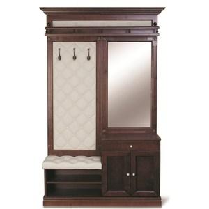 Прихожая Мебелик Сильвия молочный/тёмно-коричневый недорго, оригинальная цена