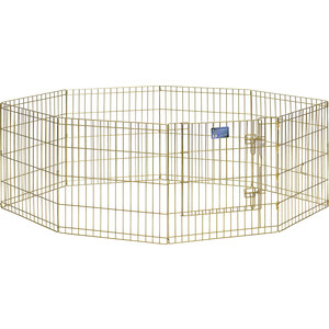 Вольер Midwest Gold Zinc 24 Exercise Pen with Door 8 панелей 61х61h см с дверью позолоченный цинк для животных luxury 14k gold pen germany duke fountain pen high end 0 5mm nib ink the best business gift with pen case free shipping