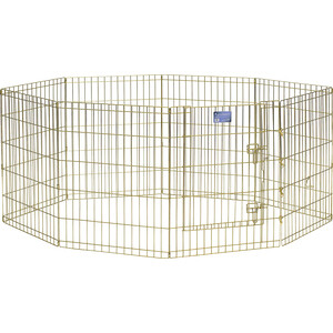 Вольер Midwest Gold Zinc 30 Exercise Pen with Door 8 панелей 61х76h см с дверью позолоченный цинк для животных luxury 14k gold pen germany duke fountain pen high end 0 5mm nib ink the best business gift with pen case free shipping