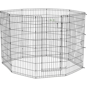 Вольер Midwest Life Stages 48 Black Exercise Pen with Full MAX Lock Door 8 панелей 61х122h см с дверью- MAXLock черный для животных