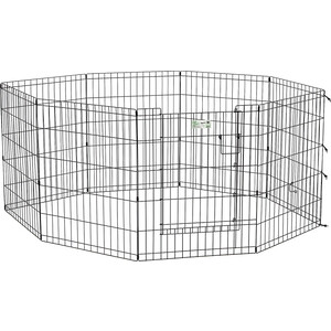Вольер Midwest Life Stages 30 Black Exercise Pen with Full MAX Lock Door 8 панелей 61х76h см с дверью- MAXLock черный для животных