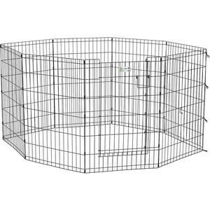 Вольер Midwest Life Stages 36 Black Exercise Pen with Full MAX Lock Door 8 панелей 61х91h см с дверью- MAXLock черный для животных