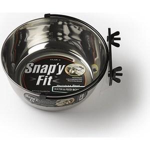 Миска Midwest Snapy Fit Stainless Steel Bowl 2 Quart для клеток и вольеров нержавеющая сталь 1,85л миска на клетку midwest металлическая 600мл
