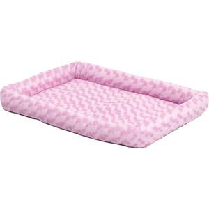 Лежанка Midwest Quiet Time Fashion Pet Bed - Pink 22плюшевая 56х33 см розовая для кошек и собак