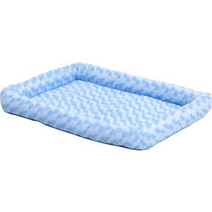 """Лежанка Midwest Quiet Time Fashion Pet Bed - Powder Blue 24"""" плюшевая 61х46 см голубая для кошек и собак"""