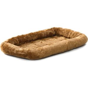 Лежанка Midwest Quiet Time Pet Bed - Cinnamon 22'' меховая 56х33 см коричневая для кошек и собак
