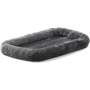 Лежанка Midwest Quiet Time Pet Bed - Gray 22 меховая 56х33 см серая для кошек и собак