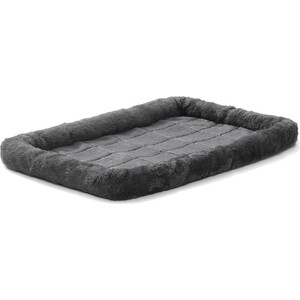 Лежанка Midwest Quiet Time Pet Bed - Gray 24'' меховая 61х46 см серая для кошек и собак