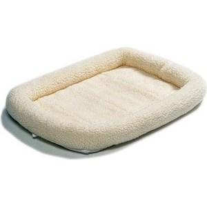 Лежанка Midwest Quiet Time Pet Bed - Fleece 22'' флисовая 53х30 см белая для кошек и собак