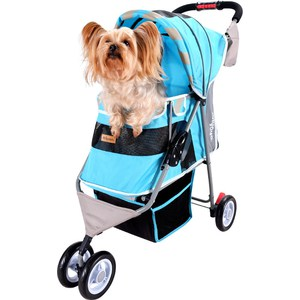 Коляска Ibiyaya New I-Cute Pet Buggy голубая для собак (FS1101S-DB) gloria паста для шугаринга средняя с ментолом паста для шугаринга средняя с ментолом 330 гр
