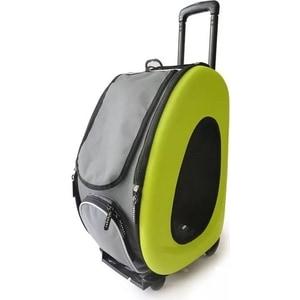 Сумка-тележка Ibiyaya складная лайм 3 в 1 (сумка, рюкзак, тележка) для собак до 8 кг (FC1008-G)