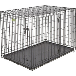 Клетка Midwest iCrate 48 Double Door Dog Crate 122x76x84h см 2 двери черная для собак