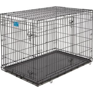 Клетка Midwest Life Stages 42'' Double Door Dog Crate 122x76x84h см 2 двери черная для собак