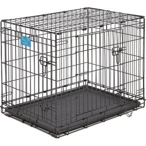 Клетка Midwest Life Stages 30 Double Door Dog Crate 76x53x61h см 2 двери черная для собак