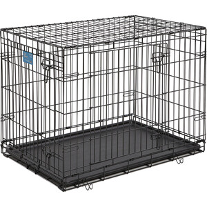 Клетка Midwest Life Stages 36'' Double Door Dog Crate 91x61x69h см 2 двери черная для собак