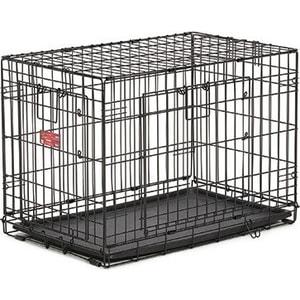 Клетка Midwest Life Stages A.C.E. 30'' Double Door Dog Crate 78x50x55h см 2 двери- MAXLock черная для собак