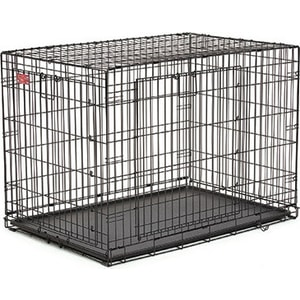 Клетка Midwest Life Stages A.C.E. 42'' Double Door Dog Crate 110x75x78h см 2 двери- MAXLock черная для собак