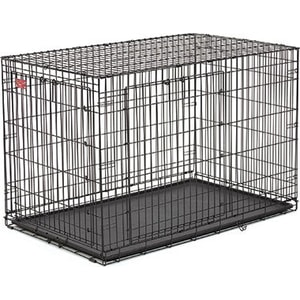 Клетка Midwest Life Stages A.C.E. 48'' Double Door Dog Crate 124x79x82h см 2 двери- MAXLock черная для собак