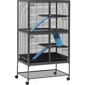 Клетка Midwest Critter Nation - Double Unit with Stand 92x61x160h см 2 этажа для грызунов клетка для грызунов inter zoo wiewiorka для дегу 71х40х63см