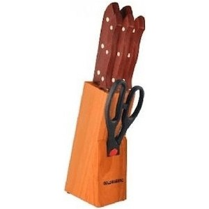 Фотография товара набор ножей на подставке 7 предметов Goldenberg (GB-01126) (749391)