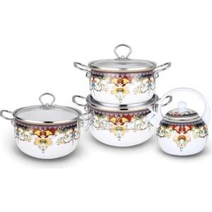 Набор эмалированной посуды 7 предметов Kelli (KL-4442) цена и фото