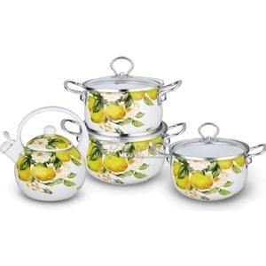 Набор эмалированной посуды 7 предметов Kelli (KL-4446) набор посуды эмаль элеонора 7 предметов