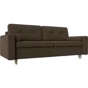 Диван прямой АртМебель Белфаст рогожка коричневый угловой диван артмебель андора ткань правый