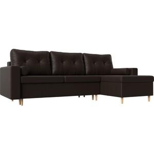 Угловой диван АртМебель Белфаст эко-кожа коричневый правый угол угловой диван артмебель юта 32 правый