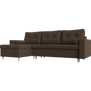 Угловой диван АртМебель Белфаст рогожка коричневый левый угол шатура диван лондон рогожка бежевая 2 подушки в подарок