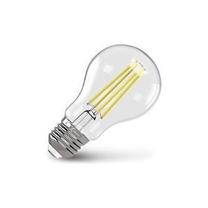 Филаментная светодиодная лампа X-flash XF-E27-FL-A60-8W-4000K-230V (арт.48045) x flash светодиодная панель x flash xf spw 295 1195 2 40w 6000k арт 47390
