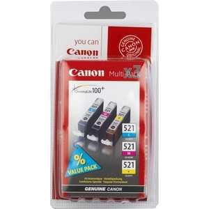Canon CLI-521 Multipack (2934B010) набор картриджей canon cli 521 голубой пурпурный желтый [2934b010]