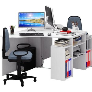 Стол Мастер Корнет-3 (белый) МСТ-СТК-03-БТ-16 стол мастер триан 41 правый белый мст уст 41 бт 16 пр