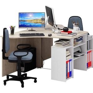 Стол Мастер Корнет-3 (дуб сонома-белый) МСТ-СТК-03-ДС-БТ-16 стол мастер корнет 1 дуб молочный мст стк 01 дм 16