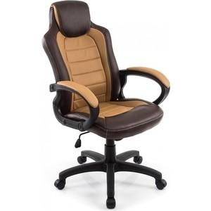 цена Компьютерное кресло Woodville Kadis коричневое/бежевое