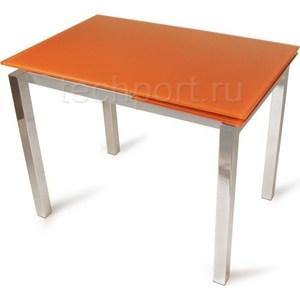Стол стеклянный Woodville LMT-118 оранжевый стол стеклянный woodville lmt 118 оранжевый